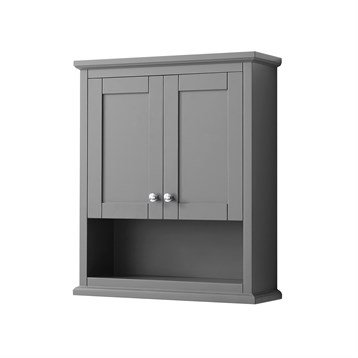 Avery Over-Toilet Wall Cabinet by Wyndham Collection - Dark Gray