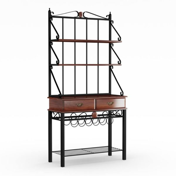 "Copper Grove Liscomb Kitchen Cabinet Bakers Rack with 3 Shelves (Tobacco Finish) - 37"" x 15.75"" x 74.50"" (Storage Rack)"