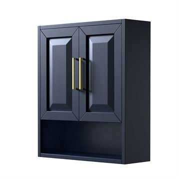 Daria Over-Toilet Wall Cabinet by Wyndham Collection - Dark Blue