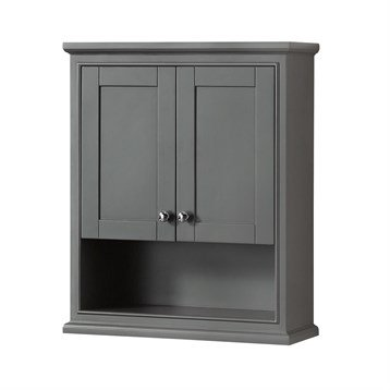 Deborah Over-Toilet Wall Cabinet by Wyndham Collection - Dark Gray
