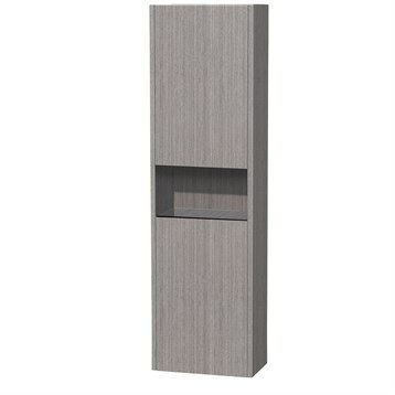 Diana Wall Cabinet by Wyndham Collection - Gray Oak