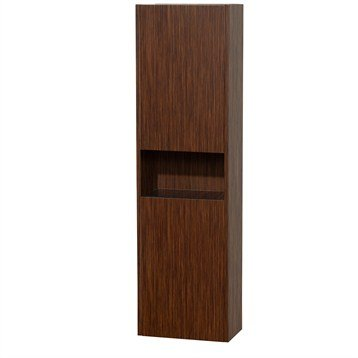 Diana Wall Cabinet by Wyndham Collection - Zebrawood