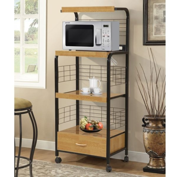 Frank Black Kitchen Organization Microwave Cabinet
