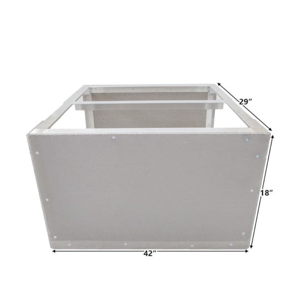 Grillnetics Kamado Cabinet 42W X 18H Easy Outdoor Kitchen Frame Kit With Cement Board By - DBC-18-42-29