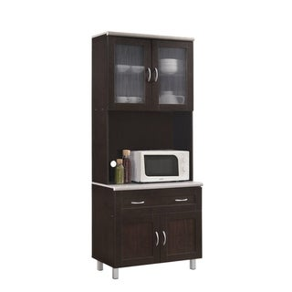 Hodedah Kitchen Cabinet (Brown)