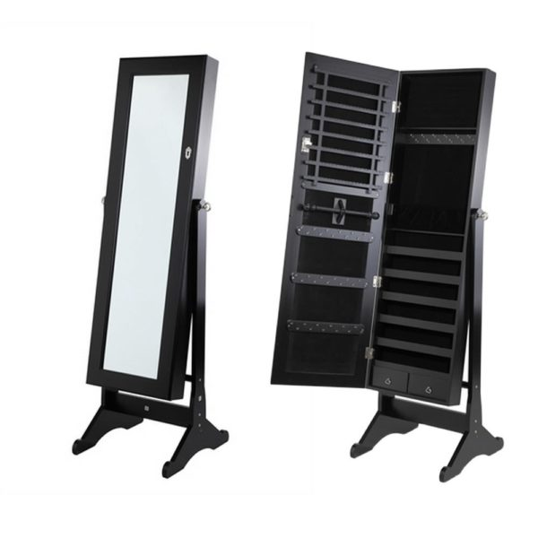 Homegear Mirrored Jewelry Cabinet with Stand