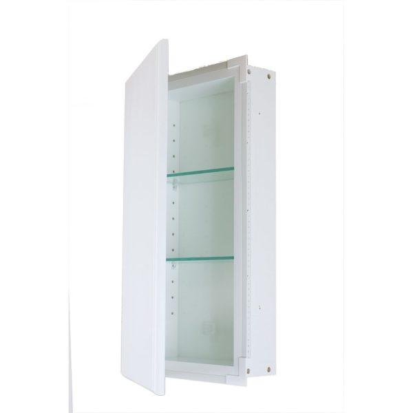 Rockford White Recessed Frameless Wall Cabinet 3.5 In. Deep (14w x 18h x 3.5d)