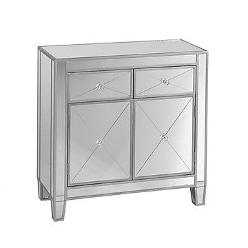 Southern Enterprises Mirage Mirrored Cabinet (OC9156)