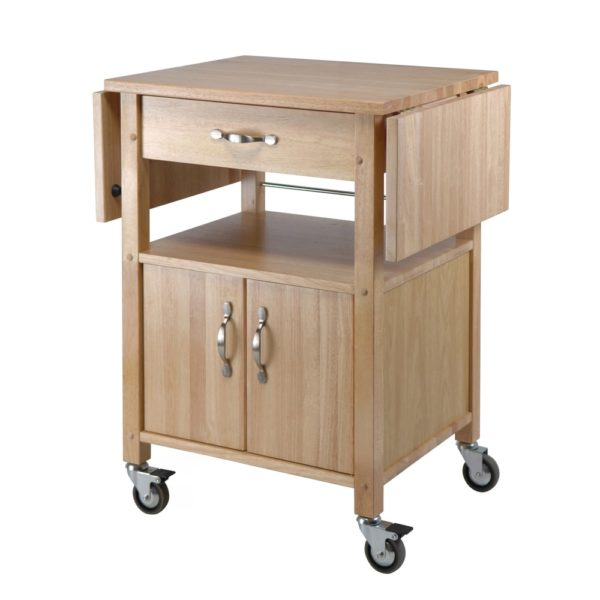 Winsome Wooden Double-drop Leaf Kitchen Cart Cabinet with Shelf (Kitchen Cart)