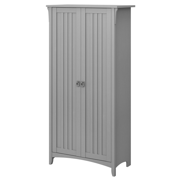 """Bush Furniture Salinas 63""""H Kitchen Pantry Cabinet With Doors, Cape Cod Gray, Standard Delivery"""