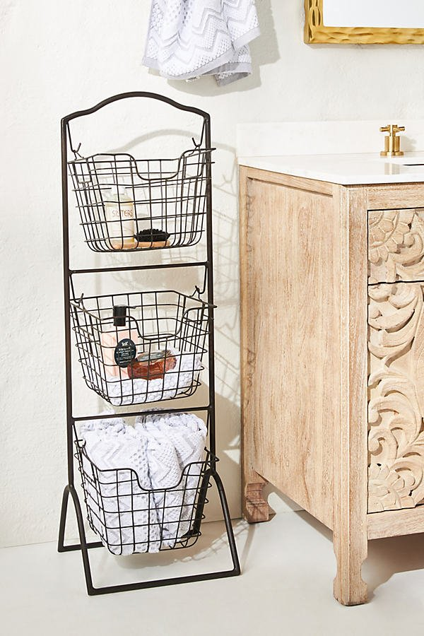 Urusa Basket Tower By Anthropologie in Black Size ALL