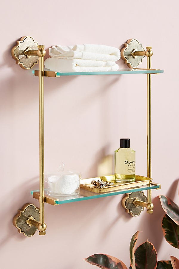 Vera Two-Tier Shelf By Anthropologie in Brown Size ALL