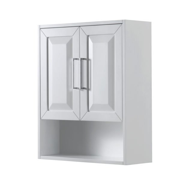 Wall-Mounted Storage Cabinet in White - Wyndham WCV2525WCWH
