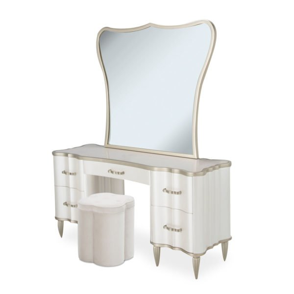 AICO Furniture London Place 3 Piece Vanity Set By Michael Amini + Jane Seymour Living, 60 in. W x 20 in. D x 30 in. H