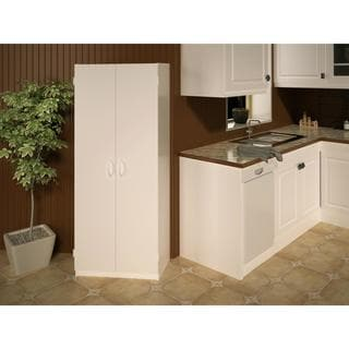 Ameriwood Home Flynn 24-inch Kitchen Pantry Double-door Cabinet (White)