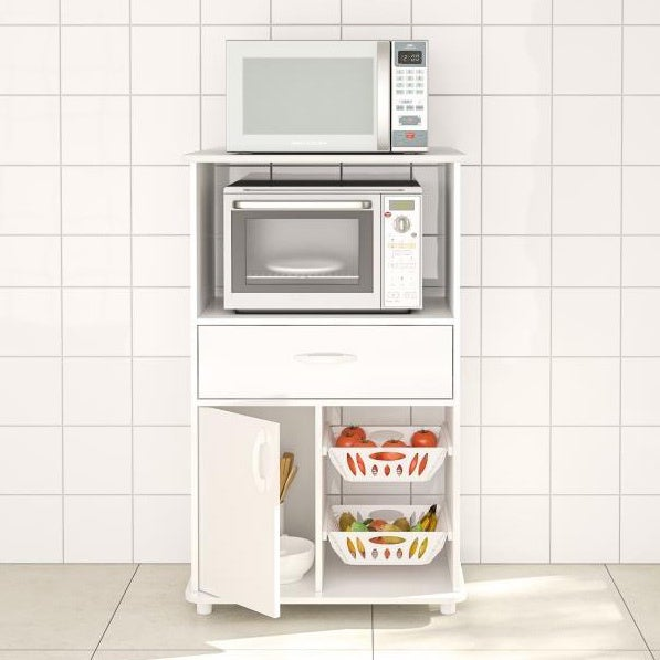 Boahaus White MDF Kitchen Storage Cabinet (White)