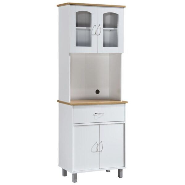 Hodedah Kitchen Cabinet in White